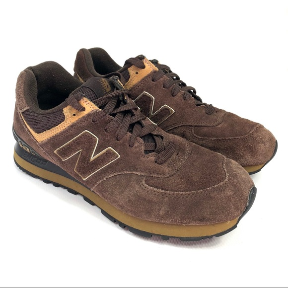 timeless design d2239 4eb3c New Balance 574 Brown/Tan Suede Shoes